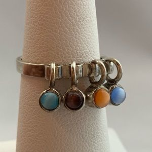 Jewelry - Articulated Moonstone & Sterling Ring